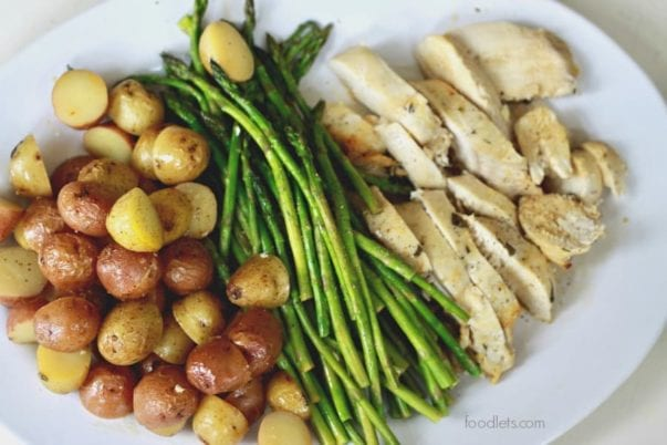 Sheet Pan Lemon Chicken with Potatoes & Asparagus