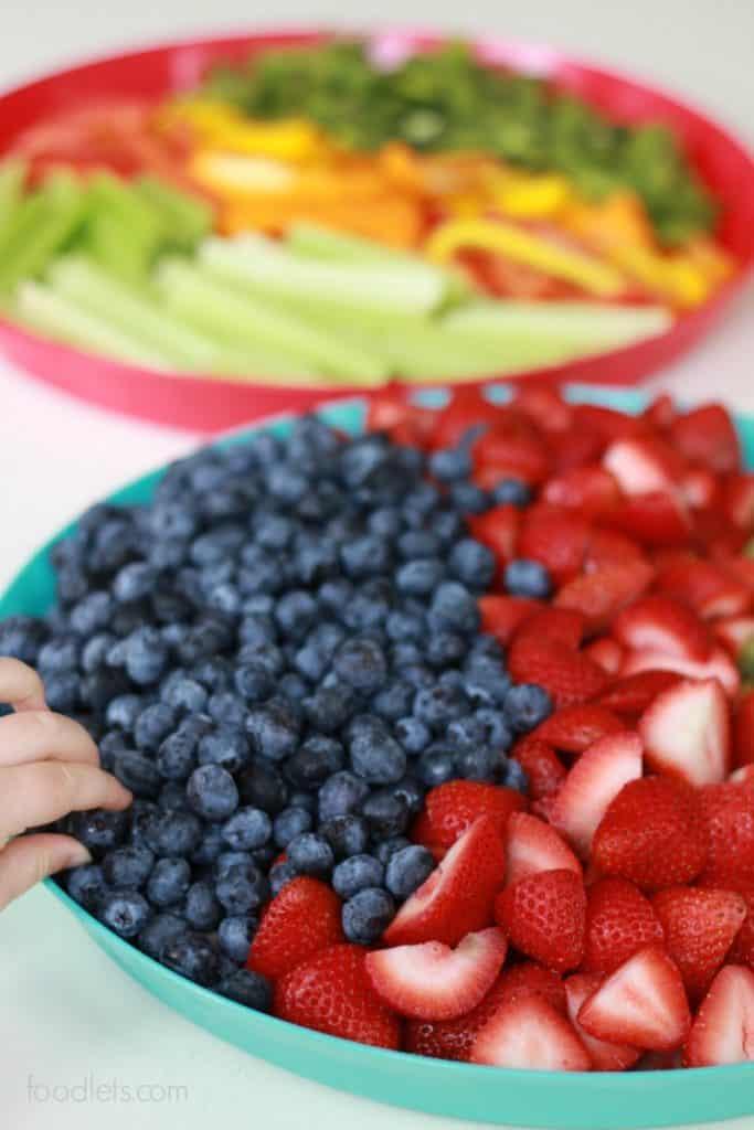 veggie and fruit platters