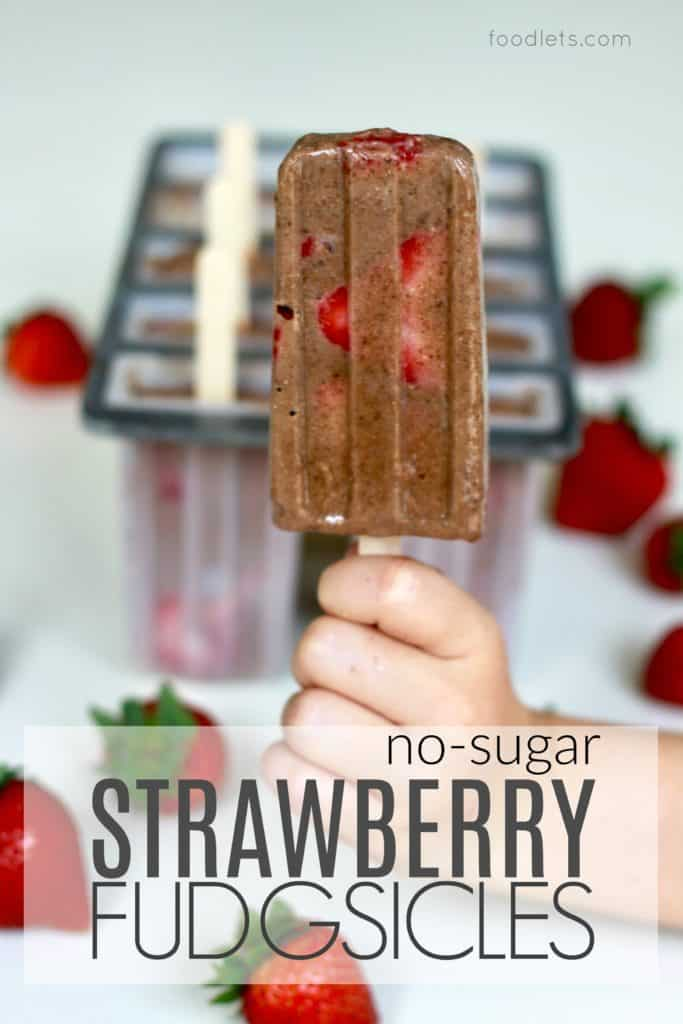 No-Sugar Strawberry Fudgsicles