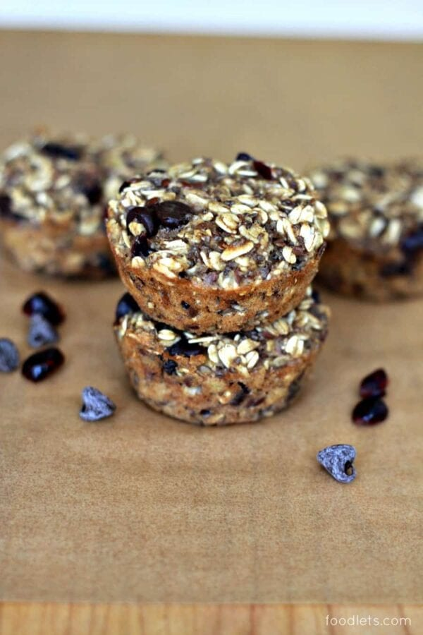 chocolate chip cranberry oat cups