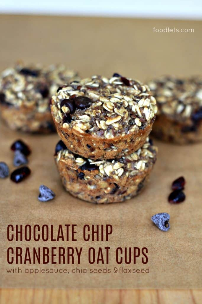 healthy snacks, chocolate chip oat cups