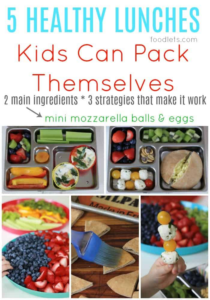 Week 3: 5 Healthy Lunches Kids Can Pack Themselves with Eggs & Mini Mozzarella Balls