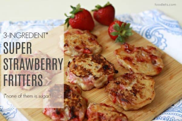 easy strawberry fritters