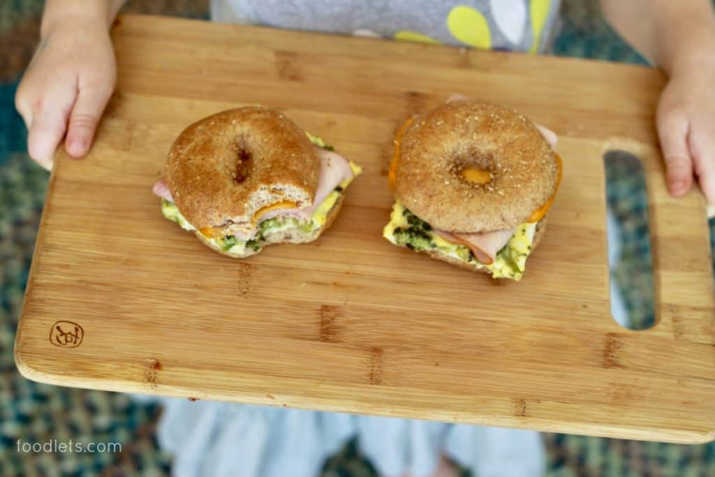 A healthy breakfast recipe for busy mornings: Make-ahead egg sandwiches with the works!