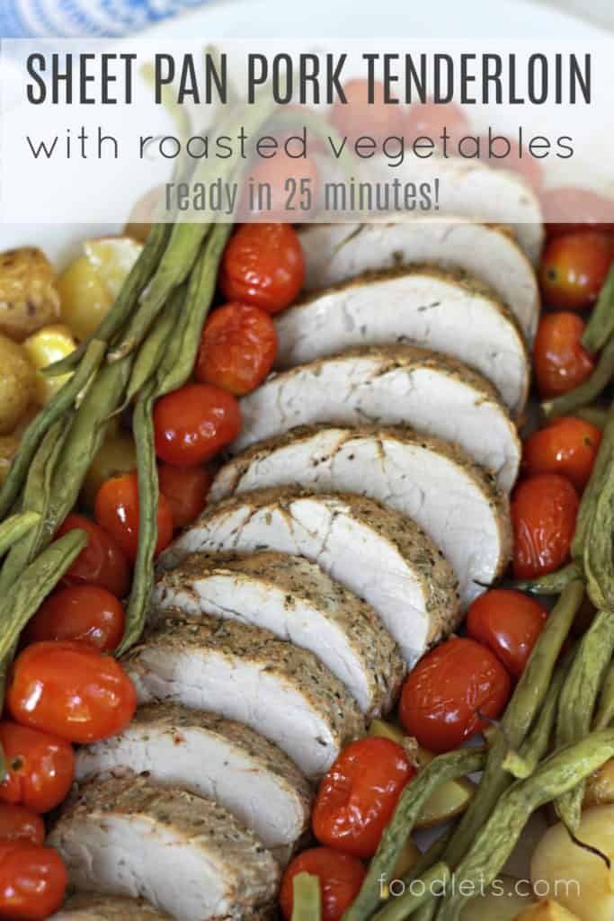 sheet pan pork tenderloin, FB close