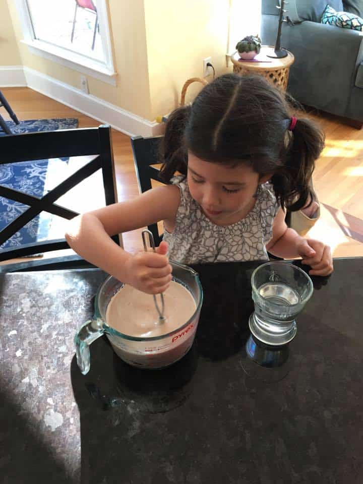estelle making homemade hot chocolate