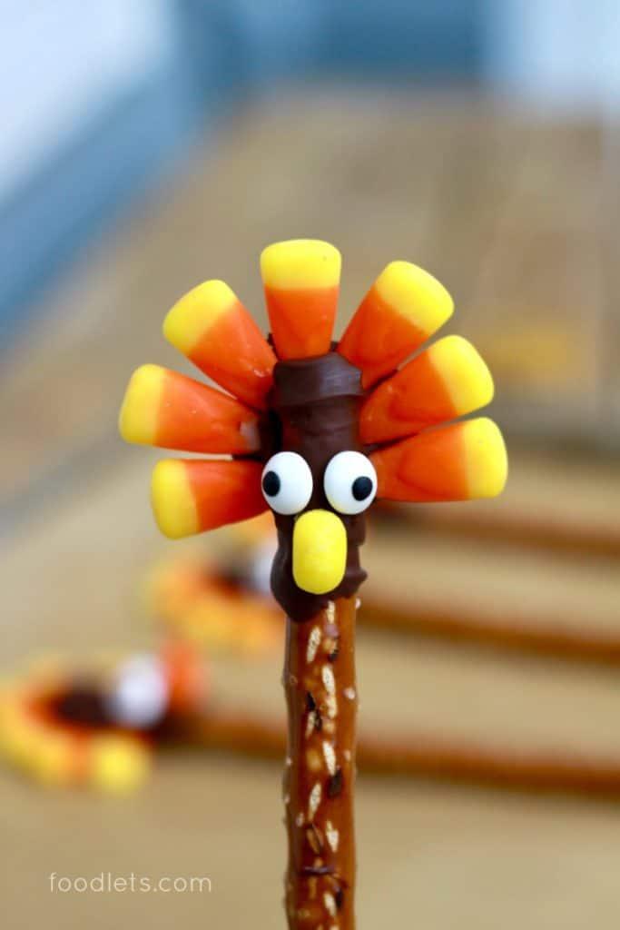 Chocolate Turkey Pretzel Sticks