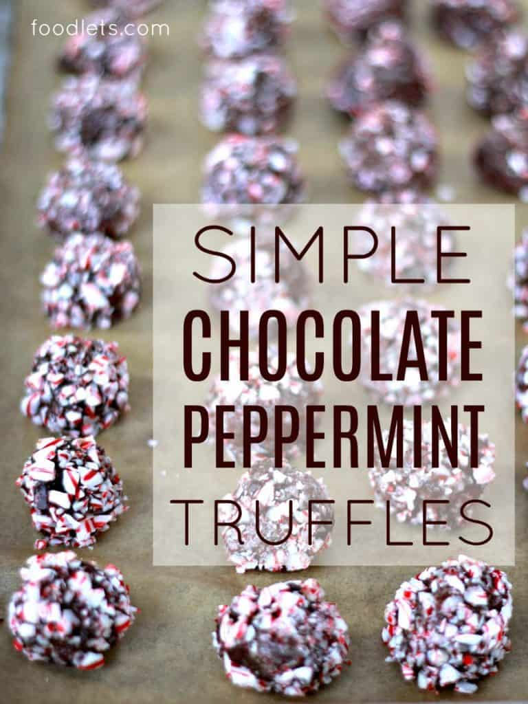 You're Only 4 Ingredients Away from Chocolate Peppermint Truffles