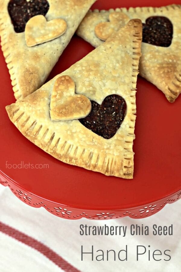 Simple Strawberry Chia Seed Hand Pies…for Breakfast!