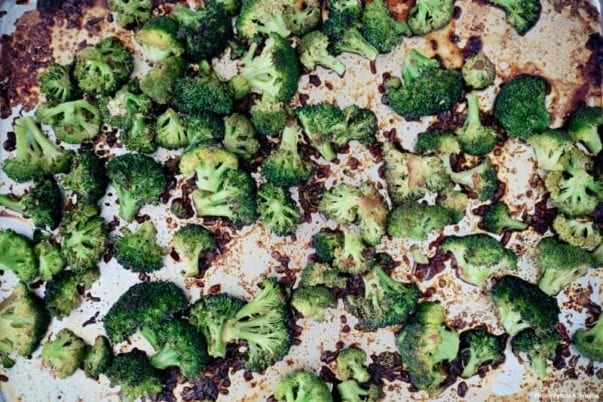"Soy Butter Roasted Broccoli from ""The Farmhouse Chef"""