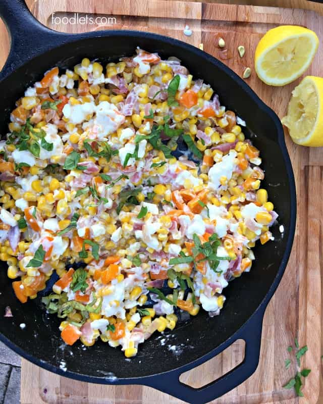 Simple Sautéed Sweet Corn with Feta (Hint: Start with a Bag of Frozen Corn!)