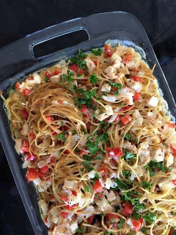 Chicken and Bell Pepper Pasta Bake