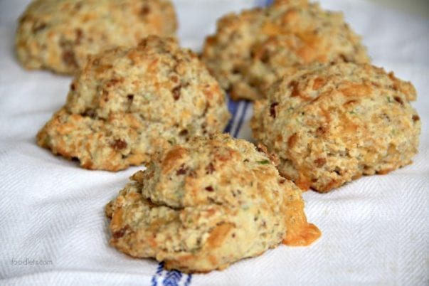 Whole-Wheat Cheddar Biscuits With (or Without) Bacon